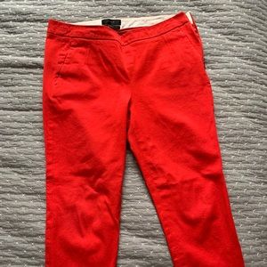 JCrew capris in red. 4P.